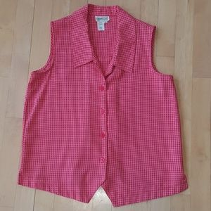 Coldwater Creek collared sleeveless top